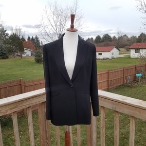NEW Ann Taylor Black Pin Stripe Blazer